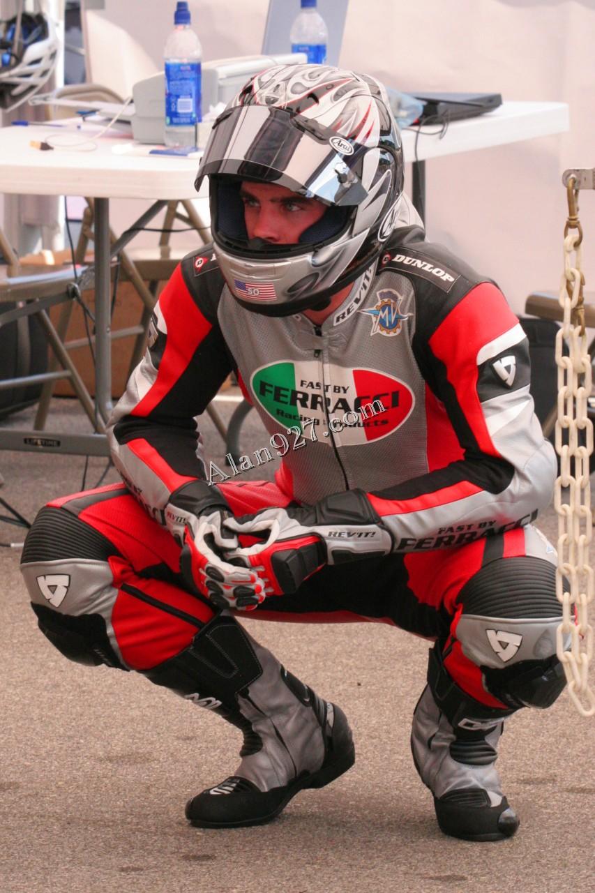 matt lynn stretching barber motorsports park 2007 matt lynn stretching